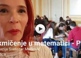Jelena Piuković o takmičenju u matematici