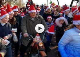 Detalji pre i posle trke Deda mraza Palić 2018.