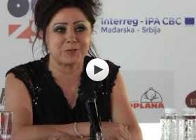 Timea Horvat na press konferenciji festivala