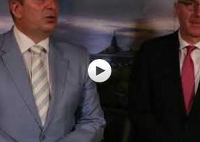 Izjave za medije Bogdan Laban i Tomas Šib