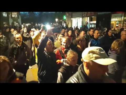 Protest u Subotici deo 5 Početak šetnje korzom