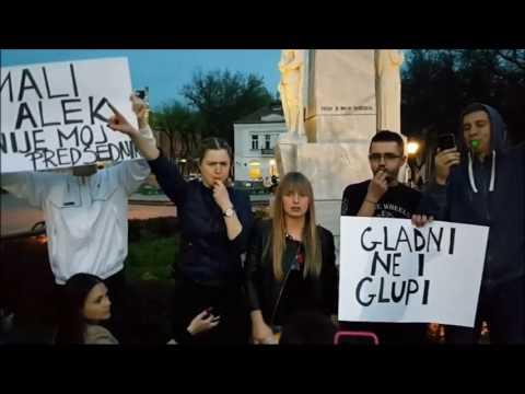 Protest u Subotici deo 4 Nećemo sendviče