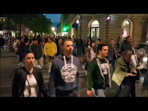 Protest u Subotici deo6 Detalj šetnje i umalo incidenta