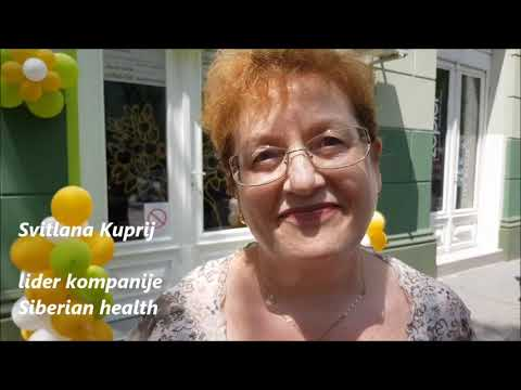 Svitlana Kuprij o proizvodima kompanije Siberian health